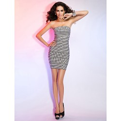 Cocktail Party / Holiday Dress - Multi-color Petite Sheath/Column Straps Short/Mini Rayon