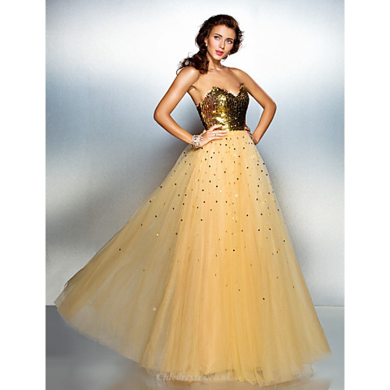 Chic Dresses Prom Formal Evening Dress Gold Plus Sizes