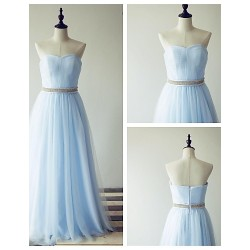 Formal Evening Dress Pool A Line Sweetheart Floor Length Tulle