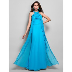 Dress Pool Plus Sizes Petite Sheath Column High Neck Floor Length Chiffon