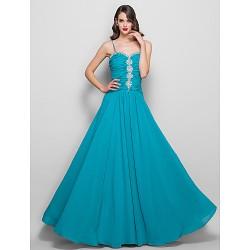 Formal Evening / Prom / Military Ball Dress - Jade Plus Sizes / Petite Sheath/Column Spaghetti Straps Floor-length Chiffon