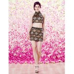 Homecoming TS Couture Cocktail Party Dress - Sheath/Column High Neck Short/Mini Sequined Special Occasion Dresses