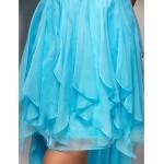 Dress - Pool Plus Sizes / Petite Sheath/Column One Shoulder Asymmetrical Chiffon Special Occasion Dresses