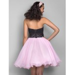 TS Couture Dress - Multi-color Plus Sizes / Petite A-line / Princess Sweetheart Short/Mini Organza / Chiffon Special Occasion Dresses