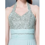Dress - Multi-color Plus Sizes / Petite Sheath/Column Halter Floor-length Chiffon Special Occasion Dresses