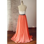 Formal Evening Dress - Multi-color A-line Sweetheart Sweep/Brush Train Chiffon / Lace Special Occasion Dresses