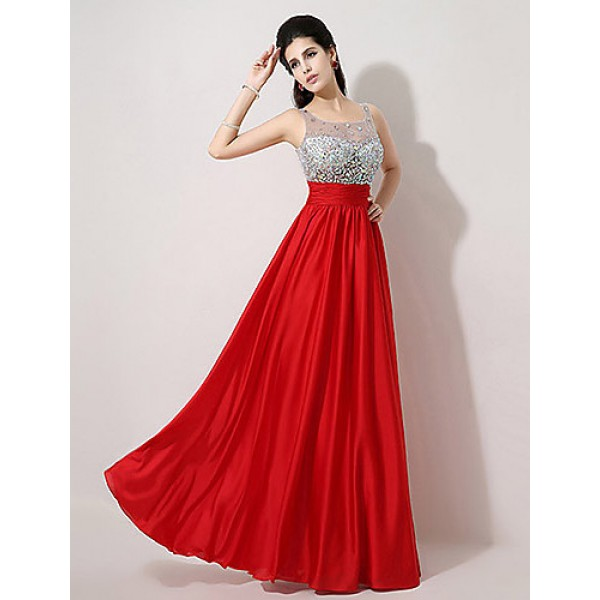 Formal Evening Dress - Ruby Plus Sizes / Petite A-line Scoop Floor-length Special Occasion Dresses