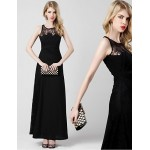 Formal Evening Dress - Black A-line Scoop Ankle-length Chiffon Special Occasion Dresses