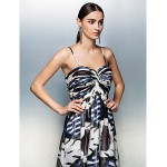 Prom / Formal Evening Dress - Print Plus Sizes / Petite A-line Strapless Floor-length Chiffon Special Occasion Dresses