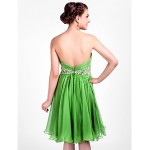 TS Couture Cocktail Party / Dress - Clover Plus Sizes / Petite A-line / Princess Halter / Sweetheart Knee-length Chiffon Special Occasion Dresses