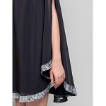 TS Couture Cocktail Party Dress - Black Plus Sizes / Petite Sheath/Column Jewel Short/Mini Chiffon Special Occasion Dresses