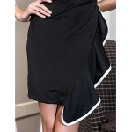 Cocktail Party Dress - Black Plus Sizes / Petite A-line Scoop Knee-length Jersey Special Occasion Dresses