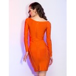 TS Couture Cocktail Party / Holiday Dress - Orange Petite Sheath/Column Bateau Short/Mini Jersey Special Occasion Dresses