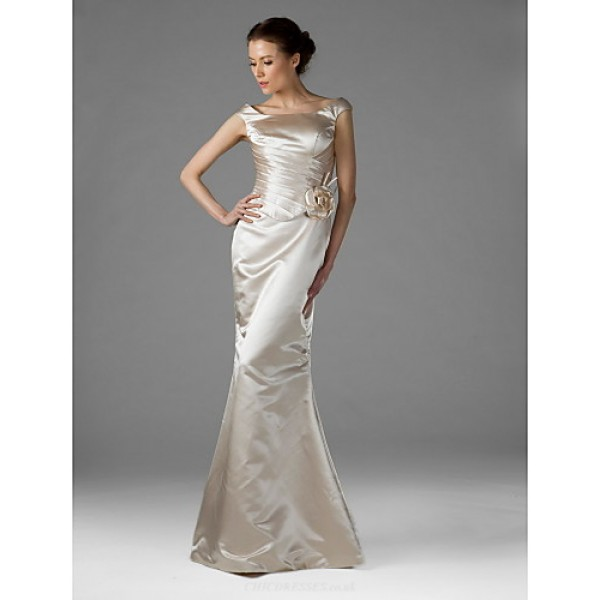 Wedding Party Dress - Champagne Plus Sizes / Petite Trumpet/Mermaid Square Floor-length Satin Special Occasion Dresses