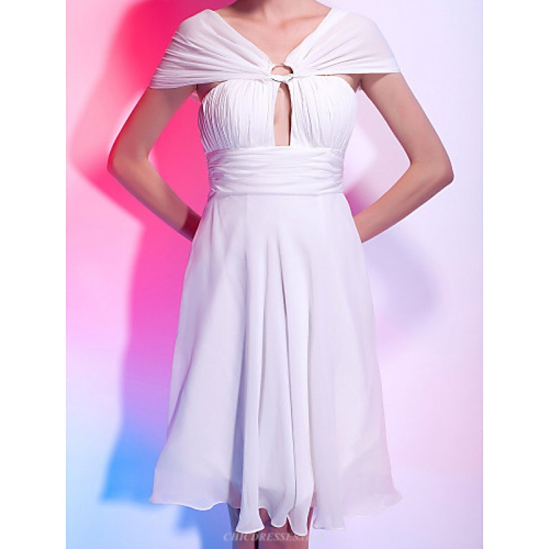 Cocktail Party Homecoming Graduation Dress White