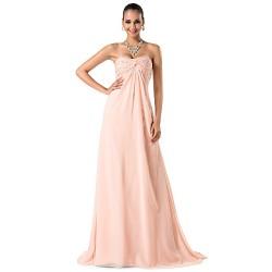 Formal Evening / Prom / Military Ball Dress - Pearl Pink Plus Sizes / Petite Sheath/Column Sweetheart / Spaghetti Straps Sweep/Brush Train