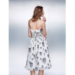 Cocktail Party / Prom Dress - Print Plus Sizes / Petite Sheath/Column Halter Knee-length Chiffon Special Occasion Dresses