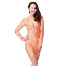 Cocktail Party Dress Orange Petite Sheath Column V Neck Short Mini Spandex Rayon Nylon Taffeta