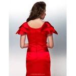 Formal Evening Dress - Ruby Plus Sizes / Petite Trumpet/Mermaid Bateau Floor-length Stretch Satin Special Occasion Dresses