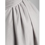 Formal Evening Dress - Silver Maternity Sheath/Column Sweetheart / Strapless Sweep/Brush Train Chiffon Special Occasion Dresses