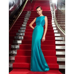 Formal Evening / Military Ball Dress - Jade Plus Sizes / Petite Sheath/Column Jewel Floor-length Taffeta
