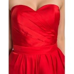 Cocktail Party / Formal Evening Dress - Ruby Plus Sizes / Petite Sheath/Column Sweetheart Asymmetrical Satin Chiffon Special Occasion Dresses