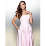 Formal Evening Dress - Candy Pink A-line Halter Tea-length Satin Special Occasion Dresses