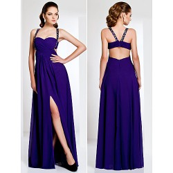 Formal Evening Military Ball Dress Regency Plus Sizes Petite Sheath Column Straps Sweetheart Floor Length Chiffon