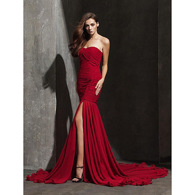 Formal Evening Dress Burgundy Plus Sizes Petite Fit