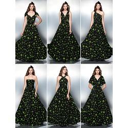 Mix&Match Convertible Dress Floor Length Knit Sheath Column Evening Dress (2034742)