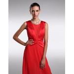 Formal Evening Dress - Ruby Plus Sizes / Petite Sheath/Column Scoop Floor-length Chiffon / Satin Special Occasion Dresses