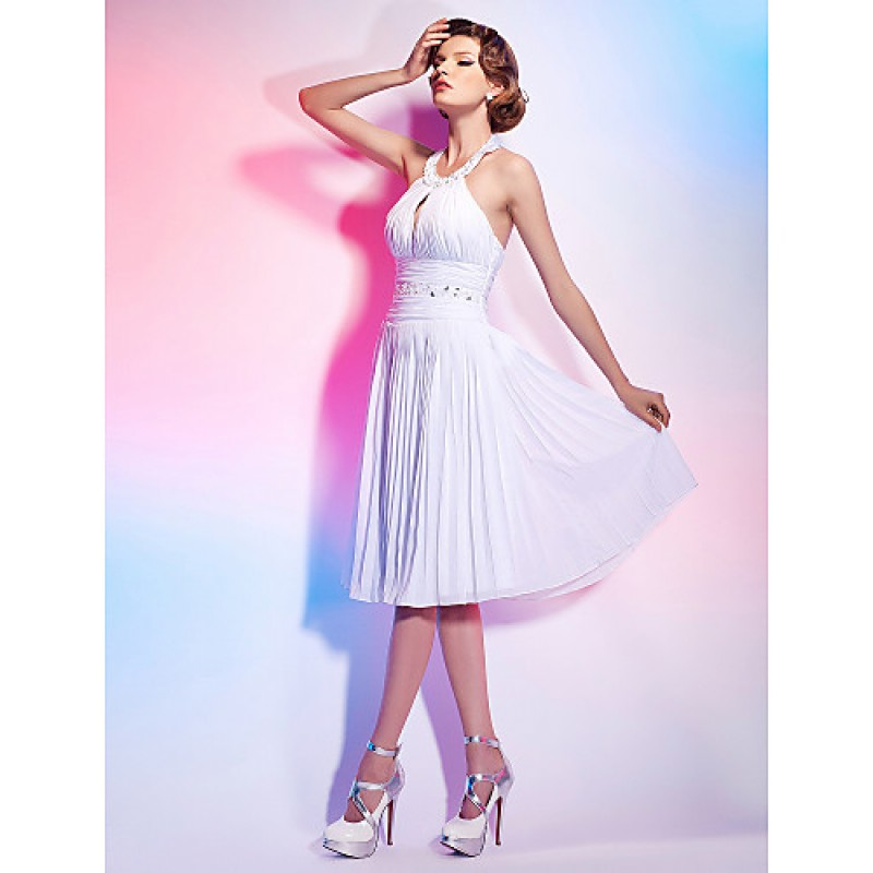 Cocktail Party Graduation Dress White Plus Sizes
