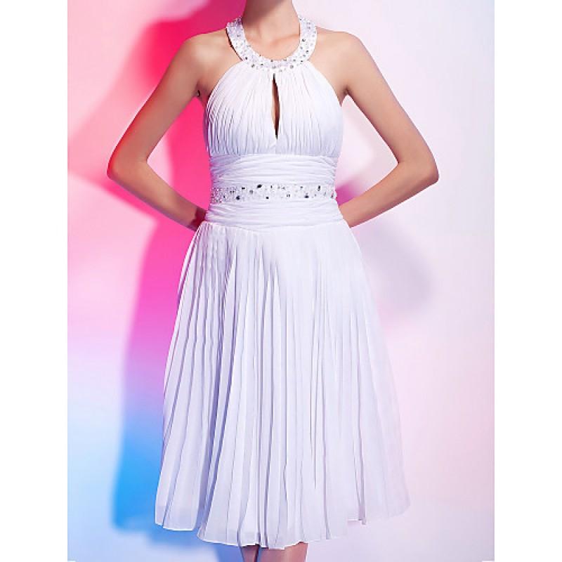 Cocktail Party Graduation Dress White Plus Sizes