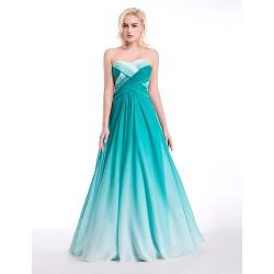 Formal Evening Dress Jade Ball Gown Sweetheart Floor Length Chiffon