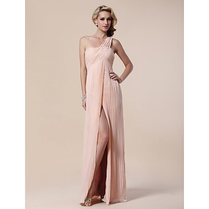 Chic Dresses Formal Evening / Military Ball Dress - Pearl Pink Plus ...