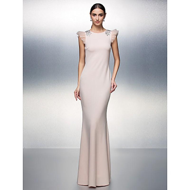753b2d8b02588 TS Couture Formal Evening Dress - Blushing Pink Plus Sizes / Petite  Sheath/Column Jewel