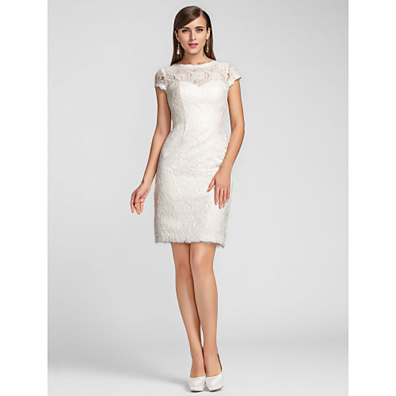 Cocktail Party Homecoming Wedding Party Dress Ivory Plus Sizes