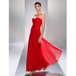 Formal Evening / Prom / Military Ball Dress - Ruby Plus Sizes / Petite Sheath/Column Spaghetti Straps Ankle-length Chiffon Special Occasion Dresses