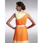 Floor-length Chiffon Bridesmaid Dress - Multi-color Plus Sizes / Petite Sheath/Column Jewel Special Occasion Dresses