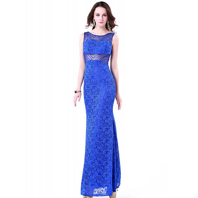 e1d9d8b84b8 Formal Evening Dress - Royal Blue Plus Sizes   Petite Trumpet Mermaid Jewel  Floor-