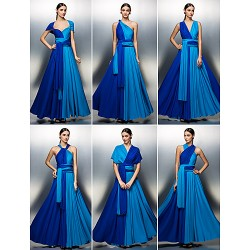 Mix&Match Convertible Dress Floor-length Jersey A-line Evening Dress (2519800)
