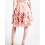 Cocktail Party Dress - Blushing Pink A-line V-neck Knee-length Chiffon Special Occasion Dresses