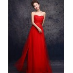Formal Evening Dress - Ruby Plus Sizes Sheath/Column Sweetheart Floor-length Tulle Special Occasion Dresses