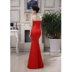 Formal Evening Dress - Ruby Plus Sizes Trumpet/Mermaid Strapless Floor-length Satin Special Occasion Dresses