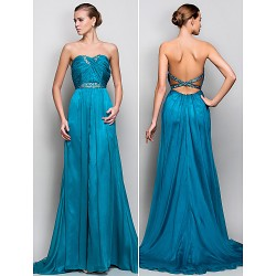 Formal Evening / Military Ball Dress - Jade Plus Sizes / Petite A-line / Princess Strapless Floor-length Crepe