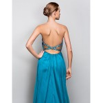 TS Couture Formal Evening / Military Ball Dress - Jade Plus Sizes / Petite A-line / Princess Strapless Floor-length Crepe Special Occasion Dresses