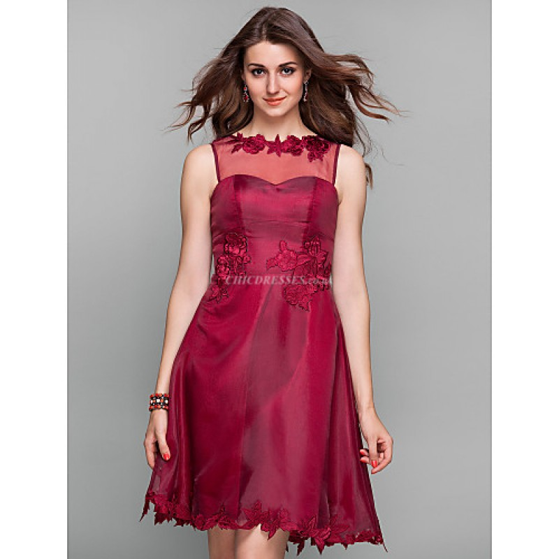 Cocktail Party Holiday Prom Dress Burgundy Plus