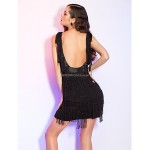 Cocktail Party / Homecoming / Holiday Dress - Black Plus Sizes / Petite Sheath/Column Straps Short/Mini Chiffon / Satin Special Occasion Dresses