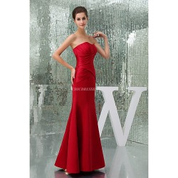 Formal Evening Dress - Ruby Petite A-line Sweetheart Floor-length / Court Train Satin