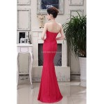 Formal Evening Dress - Watermelon Plus Sizes Trumpet/Mermaid Strapless Floor-length Lace Special Occasion Dresses